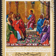 ������, ������: Postage stamp Ras al Khaimah 1970 Jesus in the Temple Painting