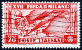 Postage stamp Italy 1936 shows Map of Italian Industries — Stock Photo