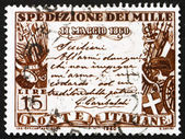Postage stamp Italy 1960 Garibaldi's proclamation — Stock Photo