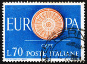Postage stamp Italy 1960 19-Spoke wheel — Stock Photo