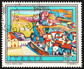 Postage stamp Italy 1981 View of Matera, Basilicata, Italy — Stock Photo