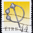 Postage stamp Ireland 1991 Silver Thistle Brooch — Stock Photo