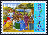 Postage stamp Ireland 1995 Adoration of the Shepherds, Christmas — Stock Photo
