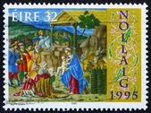 Postage stamp Ireland 1995 Adoration of the Magi, Christmas — Stock Photo