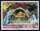 Postage stamp Ireland 1976 Nativity by Lorenzo Monaco — Stock Photo