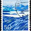 Foto de Stock  : Postage stamp Switzerland 1991 Mountain Lakes, Switzerland