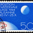 Postage stamp Switzerland 1963 Globe and Moon — Stock Photo