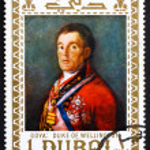 ������, ������: Postage stamp Dubai 1967 Duke of Wellington by Francisco Goya