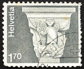Postage stamp Switzerland 1973 Romanesque Capital — Stock Photo