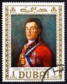 Postage stamp Dubai 1967 Duke of Wellington by Francisco Goya — Stock Photo