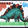 Postage stamp Poland 1965 Stegosaurus, Dinosaur — Stock Photo