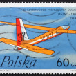 Postage stamp Poland 1968 Jester by Zephyr, Polish Glider — Stock Photo
