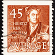 Postage stamp Sweden 1949 Christopher Polhem, Scientist and Inve - Stock Photo