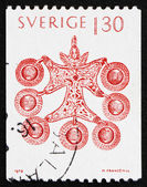 Postage stamp Sweden 1979 Pendant from Smaland, Sweden — Stock Photo