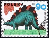 Postage stamp Poland 1965 Stegosaurus, Dinosaur — Stock Photo