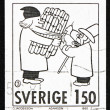 Postage stamp Sweden 1980 Comic Strip Characters — Stock Photo #11595715