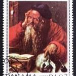 Постер, плакат: Postage stamp Panama 1967 St Hieronymus by Albrecht Durer