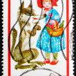 Postage stamp Poland 1968 Little Red Riding Hood — Stock Photo