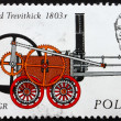 Postage stamp Poland 1976 Engine by Richard Trevithick - Stock Photo