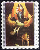 Postage stamp Panama 1967 The Promise of Louis XIII by Ingres — Stock Photo