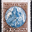 Postage stamp Hungary 1921 Madonand Child — Foto Stock #11611189