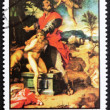 Postage stamp Ras al-Khaimah 1970 Sacrifice of Abraham by An — Stock Photo #11611305