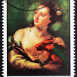 Stock Photo: Postage stamp Ras al-Khaimah 1970 Womwith Parot by Tiepolo
