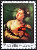 Postage stamp Ras al-Khaimah 1970 Woman with a Parot by Tiepolo — Stock Photo