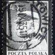 Postage stamp Poland 1935 Marshal Pilsudski, Chief of State, Sta — Stock Photo