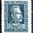 Postage stamp Poland 1928 Marshal Pilsudski, Chief of State, Sta — Stock fotografie