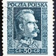 Postage stamp Poland 1928 Marshal Pilsudski, Chief of State, Sta — Stock Photo