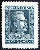 切手ポーランド 1928年ピウスツキ、国家のチーフ、sta のマーシャ リングします。 — ストック写真