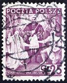 Postage stamp Poland 1938 Treaty of Lublin — Stock Photo