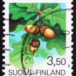 Postage stamp Finland 1990 Acorns, Fruit of Oak Tree — 图库照片 #11703714