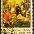 Postage stamp GDR 1989 Battle Scene, Detail by Werner Tubke — 图库照片 #11708652