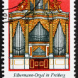 Postage stamp GDR 1976 Silbermann Organ, Freiberg Cathedral, Sax — Stock Photo