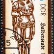 Photo: Postage stamp GDR 1989 Statue of Roland, Halberstadt, 1445