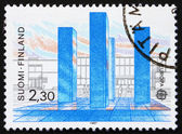 Postage stamp Finland 1987 Stoa Monument by Hannu Siren — Stock Photo