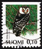 Postage stamp Finland 1991 Boreal Owl, Aegolius Funereus — Stock Photo