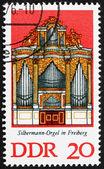 Postage stamp GDR 1976 Silbermann Organ, Freiberg Cathedral, Sax — Stock Photo