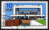Postage stamp GDR 1988 Ship Lift, Magdeburg-Rothensee — Stock Photo
