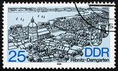 Postage stamp GDR 1988 Ribnitz-Damgarten, Town — Stock Photo
