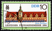 Postzegel gdr 1984 oude stadhuis, leipzig — Stockfoto