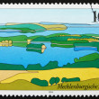Postage stamp Germany 1994 Mecklenburg Lake District, Landscape — Stock Photo