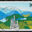 Postage stamp Germany 1994 Bavarian Alps, Landscape — Stock Photo