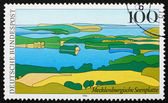 Postage stamp Germany 1994 Mecklenburg Lake District, Landscape — Стоковое фото