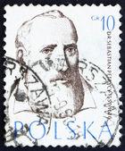 Postage stamp Poland 1957 Sebastian Petrycy, Philosopher and Phy — Stock Photo