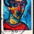 Stockfoto: Postage stamp Germany 1974 Portrait in Blue by Alexej von Jawlen