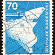 Postage stamp Germany 1975 Shipbuilding — Stock Photo