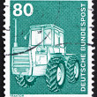 Postage stamp Germany 1975 Tractor — Foto de Stock